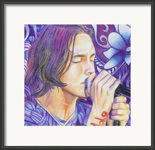 Brandon Boyd Framed Print By Joshua Morton