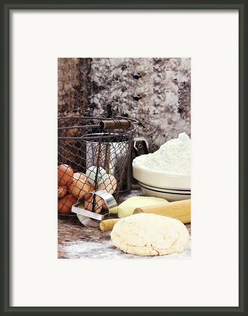 Bread Making Framed Print By Stephanie Frey