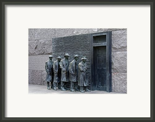 Breadline At The Fdr Memorial - Washington Dc Framed Print By Brendan Reals