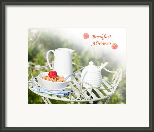 Breakfast Al Fresco Framed Print By Christopher And Amanda Elwell