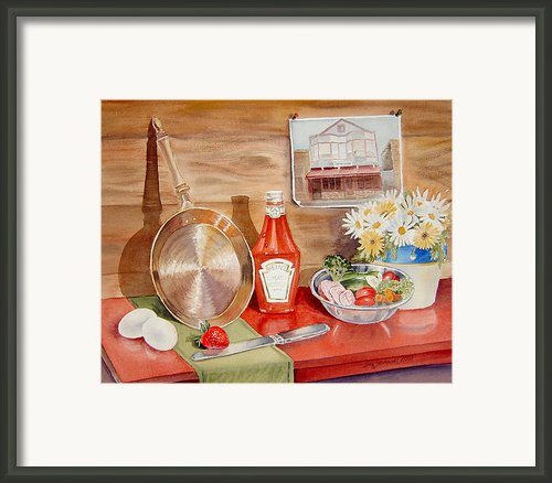 Breakfast At Copper Skillet Framed Print By Irina Sztukowski