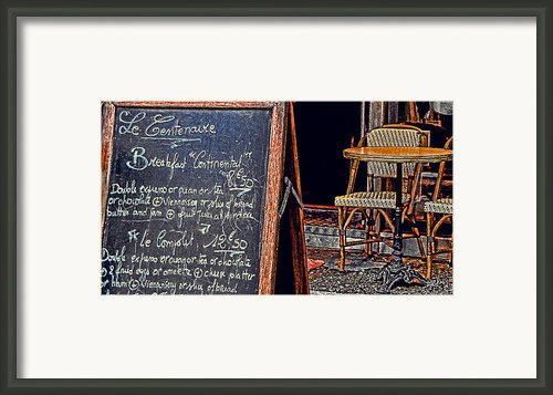 Breakfast In Paris Framed Print By Tony Grider
