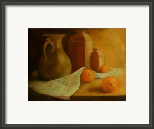 Breakfast Oranges Framed Print By Tom Forgione