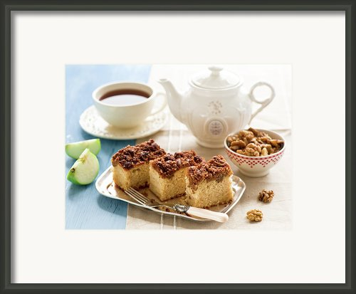 Breakfast With Nut Cake Framed Print By Verdina Anna