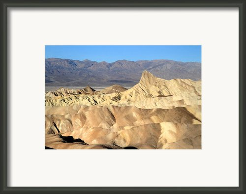 Breath Taking Landscape Of Zabriskie Point Framed Print By Pierre Leclerc