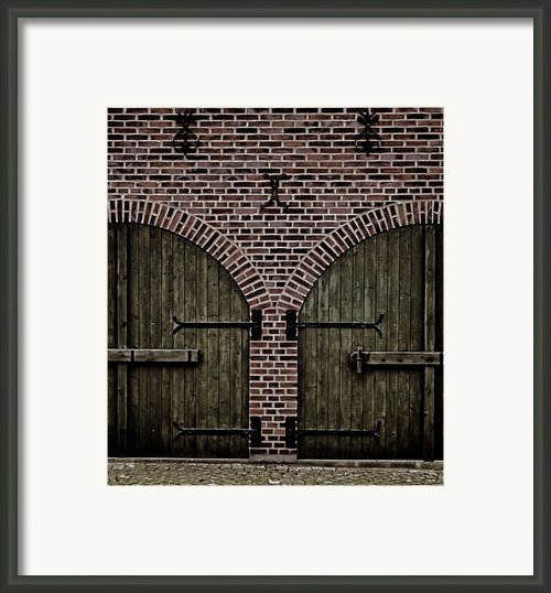 Brick Zipper Framed Print By Odd Jeppesen