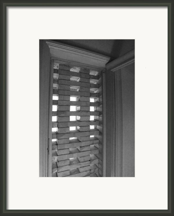 Bricks In The Window Framed Print By Anna Villarreal Garbis