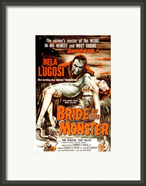 Bride Of The Monster, Bela Lugosi, 1955 Framed Print By Everett