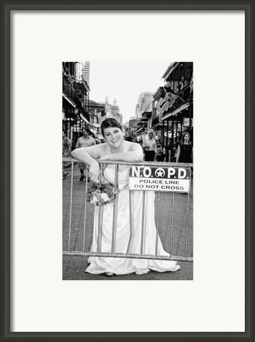 Bride On The Barricade On Bourbon St Nola Framed Print By Kathleen K Parker