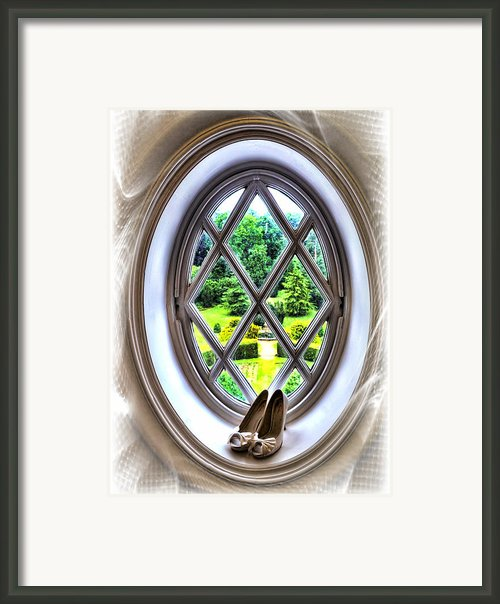 Brides Shoes Framed Print By Alex Hardie
