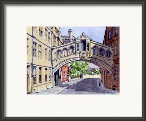 Bridge Of Sighs. Hertford College Oxford Framed Print By Mike Lester