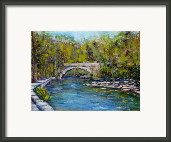Bridge Over Wissahickon Creek Framed Print By Joyce A Guariglia