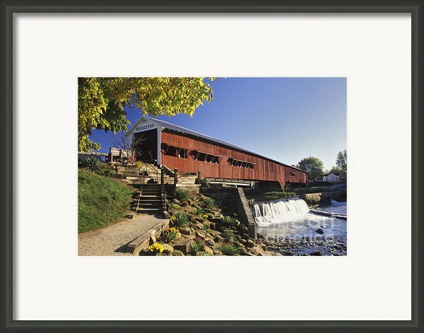 Bridgeton Covered Bridge - Fm000064 Framed Print By Daniel Dempster