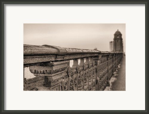 Bridging The Charles Bw Framed Print By Jc Findley