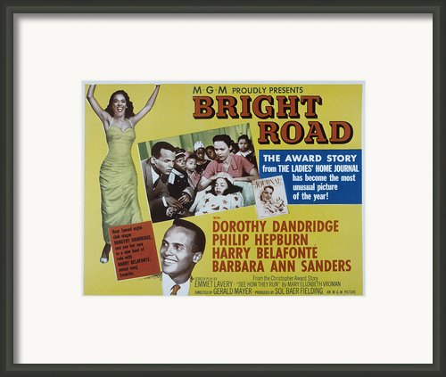 Bright Road, Dorothy Dandridge, Harry Framed Print By Everett