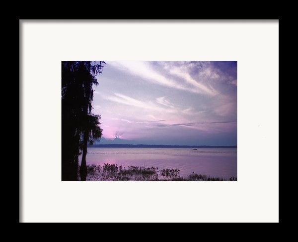 Brilliant Everglades Sunset Framed Print By Lynnette Johns