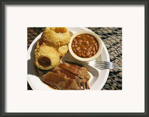 Brisket, Beans, & Rings At Famous Sonny Framed Print By Richard Nowitz