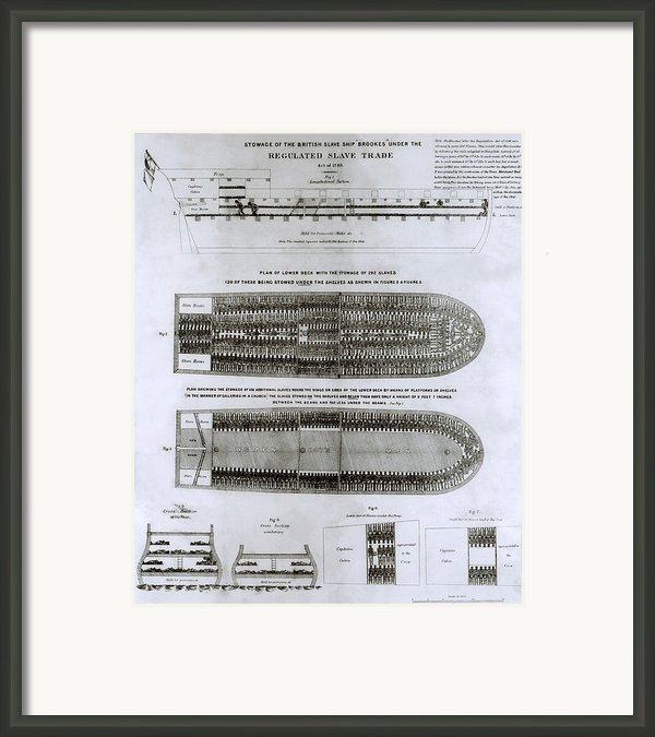 British Abolitionist Created Broadside Framed Print By Everett