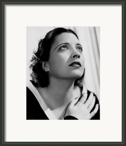 British Agent, Kay Francis, 1934 Framed Print By Everett