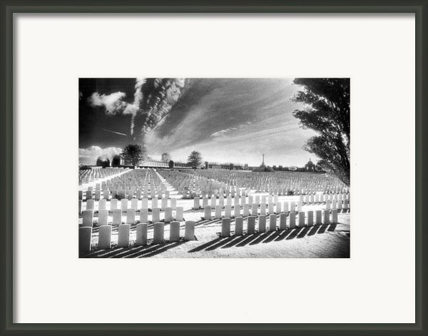 British Cemetery Framed Print By Simon Marsden