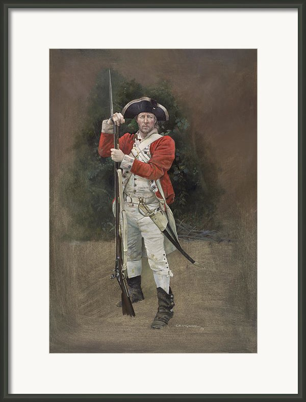 British Infantryman C.1777 Framed Print By Chris Collingwood