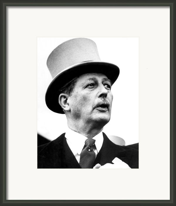 British Prime Minister Harold Framed Print By Everett