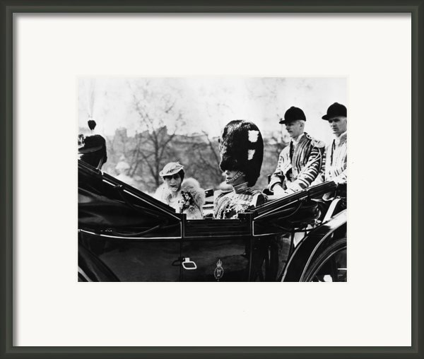 British Royal Family. Center, From Left Framed Print By Everett