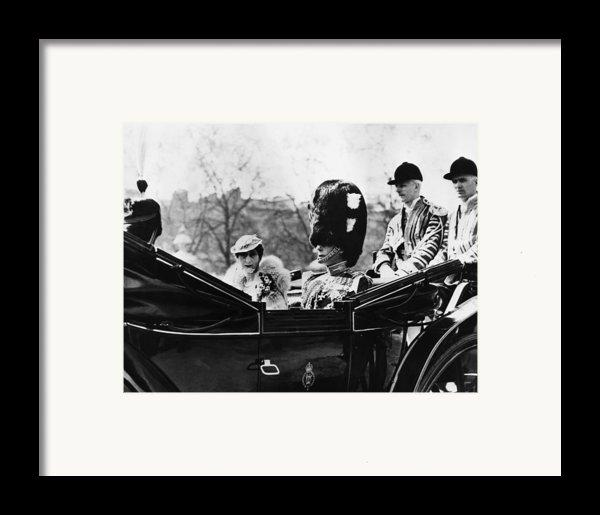 British Royal Family. Center, From Left Framed Print By Everett