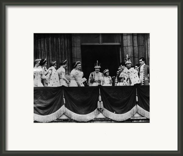 British Royal Family. From Center, L-r Framed Print By Everett