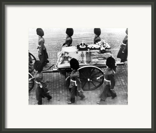 British Royal Family. Procession Framed Print By Everett