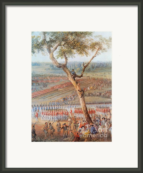 British Troops Surrender At Yorktown Framed Print By Photo Researchers