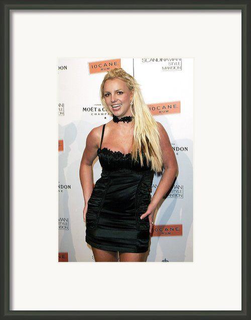 Britney Spears At Arrivals Framed Print By Everett
