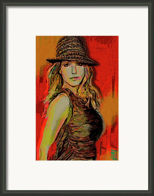 Brittney Spears Framed Print By Byron Fli Walker