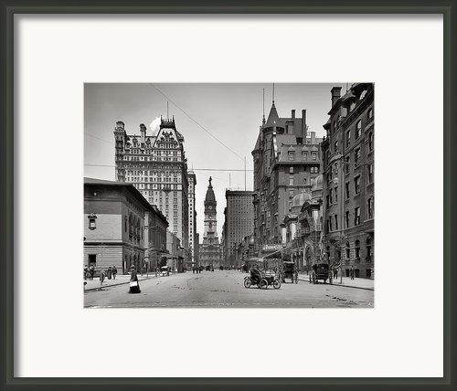 Broad Street Philadelphia 1905 Framed Print By Bill Cannon