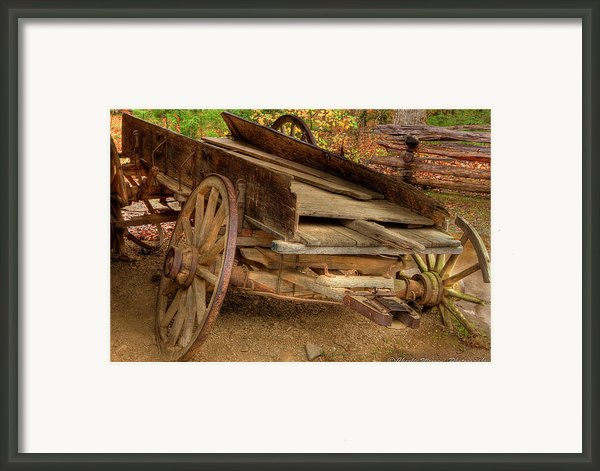 Broke Spoke I Framed Print By Charles Warren