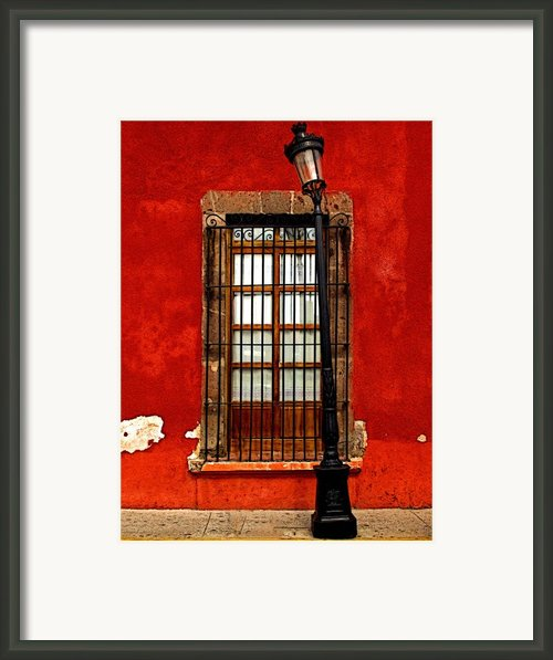 Broken Lamp Post Framed Print By Olden Mexico