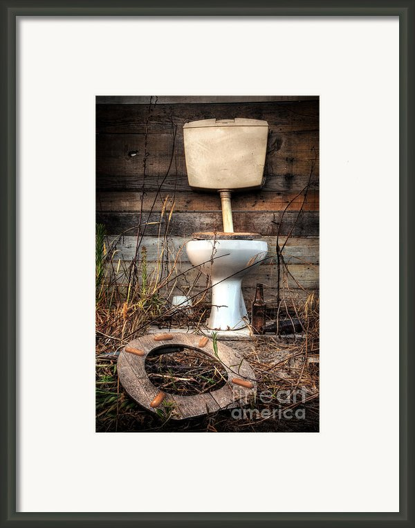 Broken Toilet Framed Print By Carlos Caetano