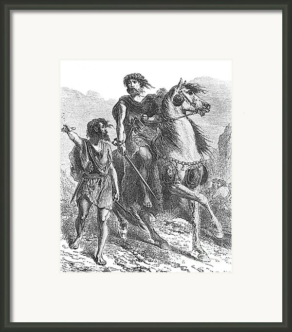Bronze Age Warrior Framed Print By Photo Researchers