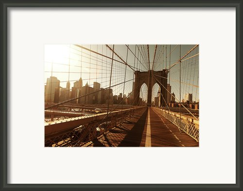 Brooklin Bridge Framed Print By Diogo Salles