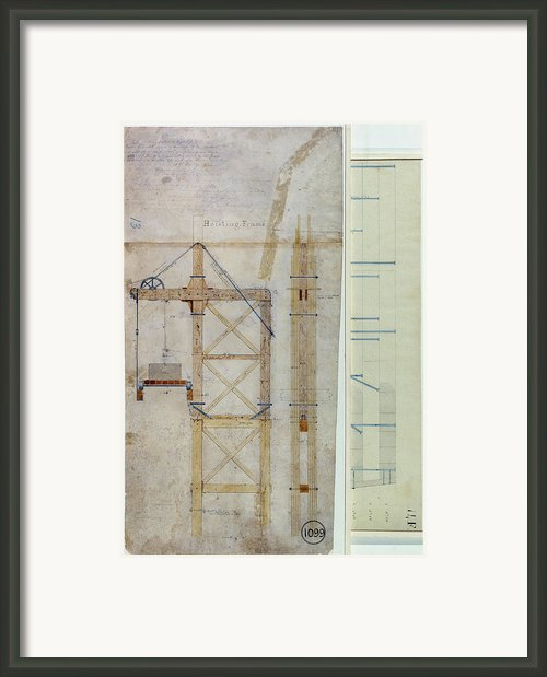 Brooklyn Bridge Diagram Framed Print By Granger