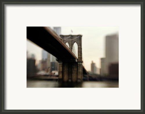"Brooklyn Bridge, New York City Framed Print By Photography By Steve Kelley Aka ""mudpig"""