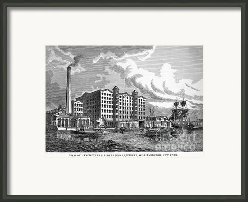 Brooklyn: Sugar Refinery Framed Print By Granger