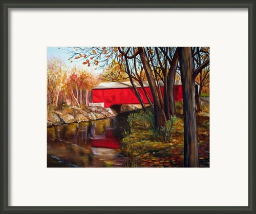 Brown County Bridge Framed Print By Dorothy Riley