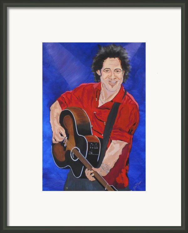 Bruce Springsteen-an American Boy Framed Print By Bill Manson