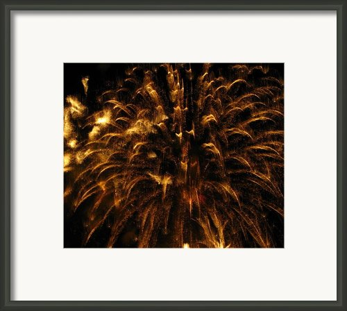 Brushed Gold Framed Print By Rhonda Barrett