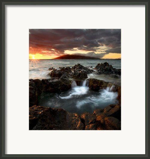 Bubbling Cauldron Framed Print By Mike  Dawson