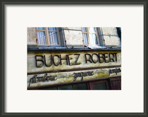 Buchez Robert Framed Print By Georgia Fowler