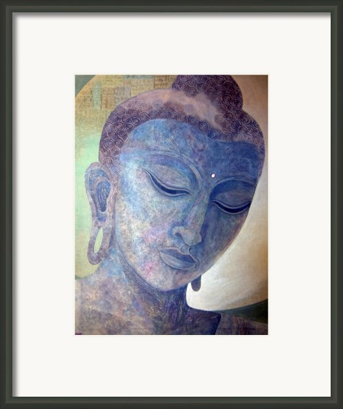 Buddha Alive In Stone Framed Print By Jennifer Baird