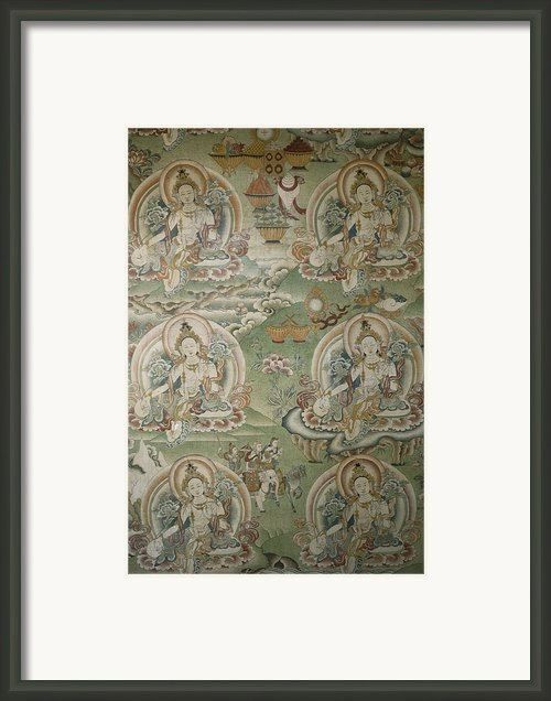Buddhist Painting Inside The Jokhang Framed Print By Gordon Wiltsie