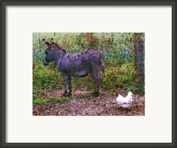 Buddies Take A Walk Framed Print By Methune Hively